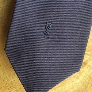 Vintage Yves Saint Laurent dark brown tie
